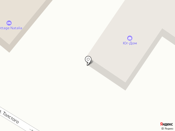 Юг-дом на карте Геленджика
