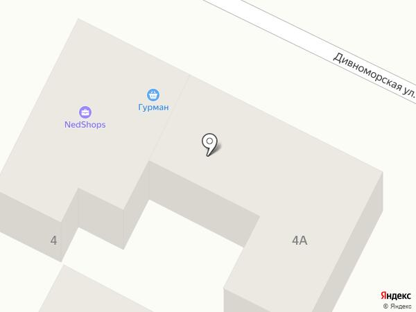 Народный на карте Геленджика