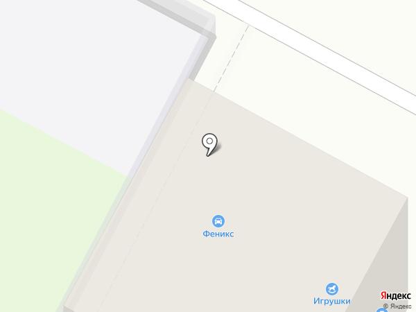Феникс на карте Геленджика