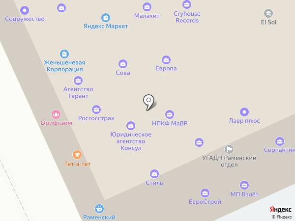 Московское областное БТИ на карте Жуковского
