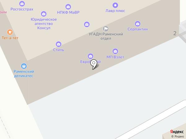 Продукты на карте Жуковского