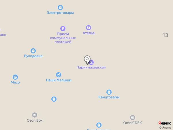 Магазин сантехники на карте Железнодорожного