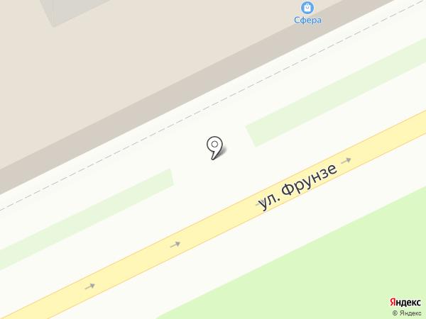 Сфера на карте Жуковского