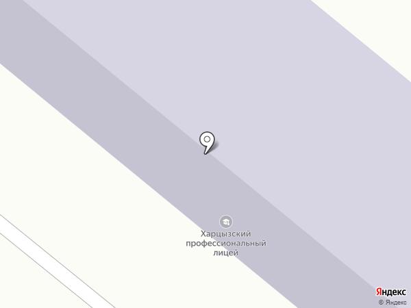 Харцызский профессиональный лицей на карте Харцызска