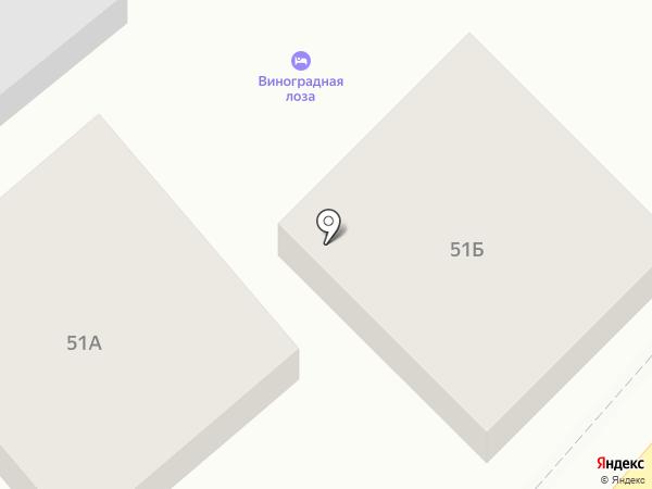 Виноградная лоза на карте Геленджика