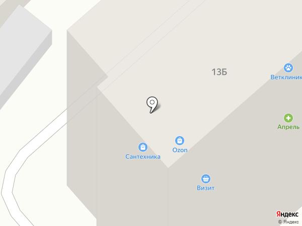 Авиценна на карте Геленджика