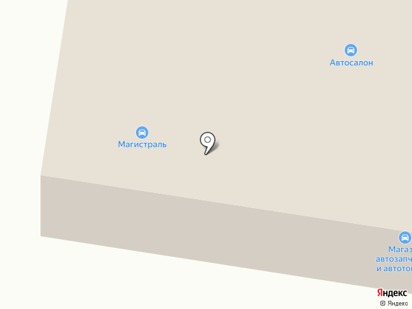 Магистраль на карте Харцызска