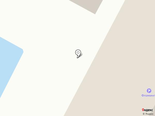 Фламинго на карте Геленджика