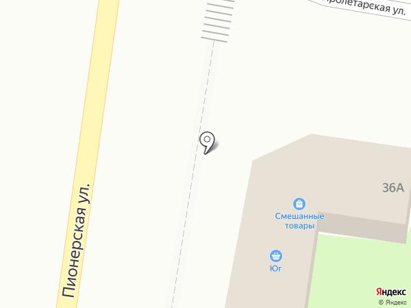Юг на карте Абинска