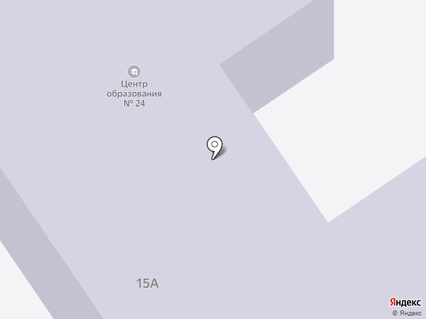 Средняя общеобразовательная школа №24 на карте Новомосковска