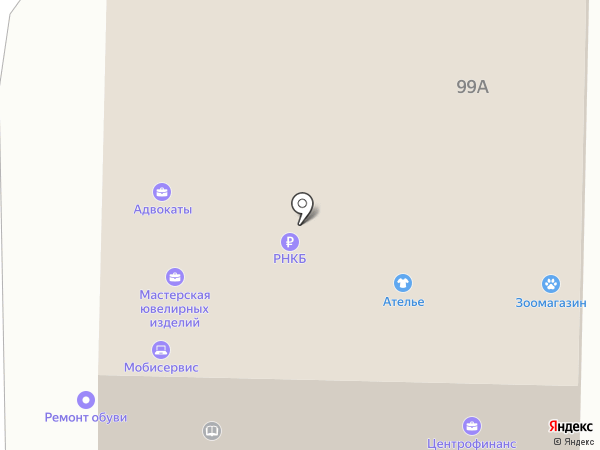 Берёзка на карте Абинска