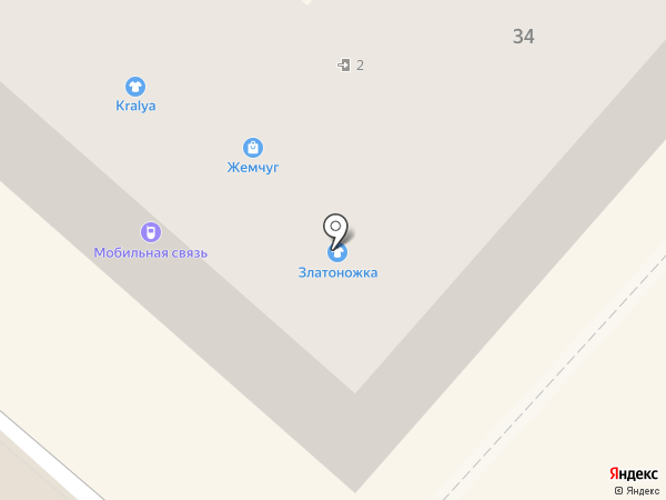 Златоножка на карте Харцызска