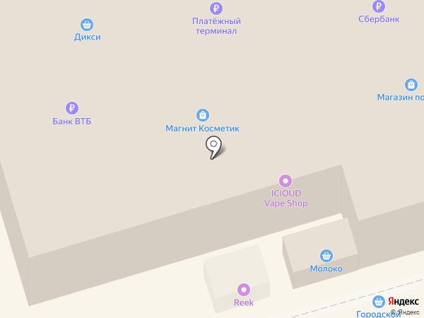 Заря на карте Узловой