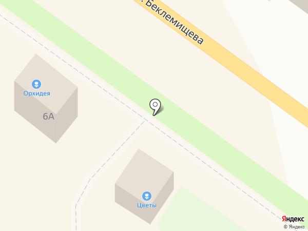 Киоск по продаже цветов на карте Узловой