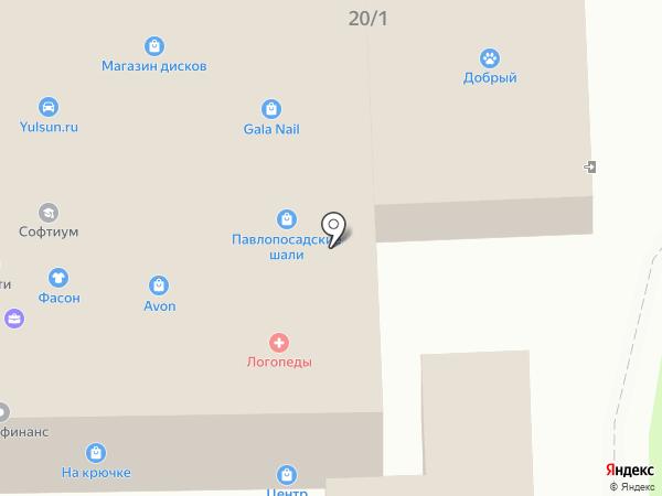 Салон оптики на карте Узловой