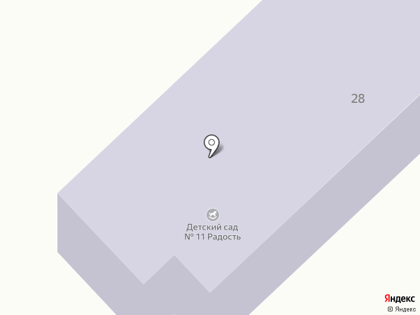 Детский сад №11 на карте Геленджика