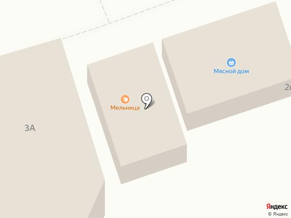 Мельница на карте Старой Купавны