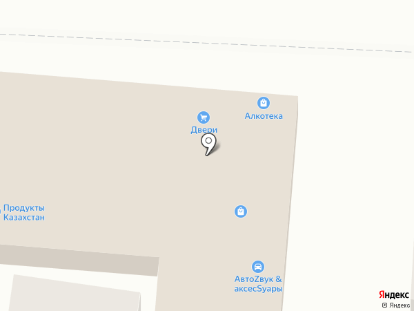Силуэт на карте Абинска