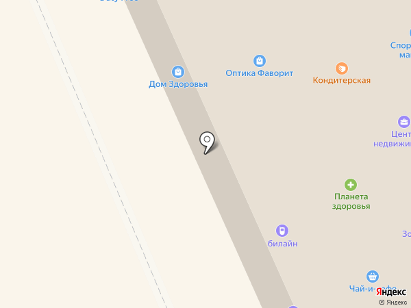 Кораблик на карте Старой Купавны