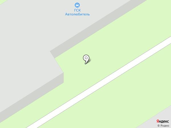Автолюбитель на карте Лосино-Петровского