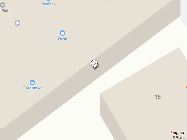 Пятерочка на карте Лосино-Петровского