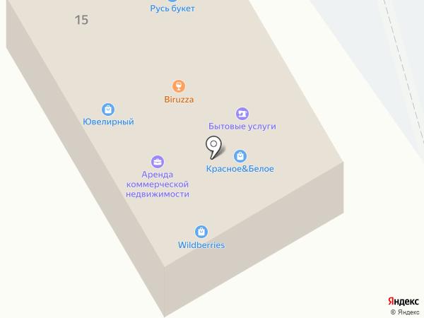 УниверСам на карте Лосино-Петровского