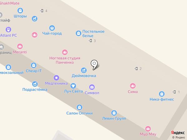 Дюймовочка на карте Раменского