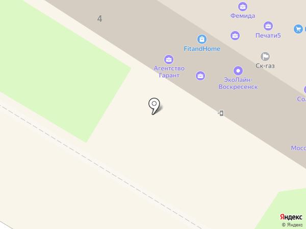 Пять Поплавков на карте Раменского