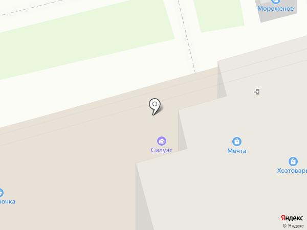 Силуэт на карте Электроуглей