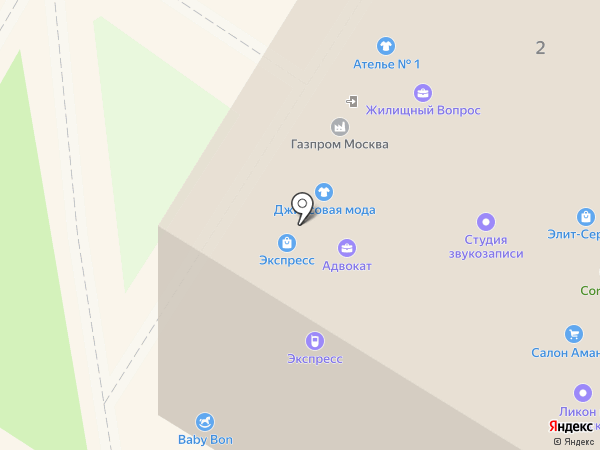 Служба быта, ЗАО на карте Раменского