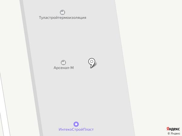 Арсенал на карте Новомосковска