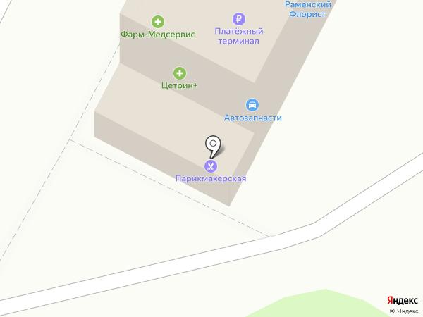 Магазин автозапчастей для Ford на карте Раменского