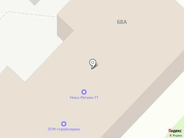 ЭТМ-стройсервис на карте Новомосковска