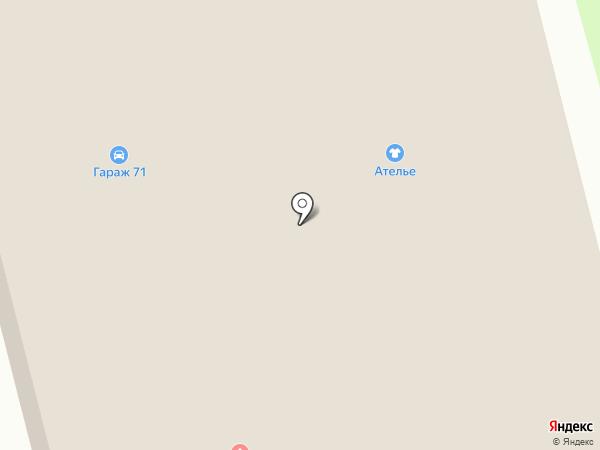 Родник здоровья на карте Новомосковска