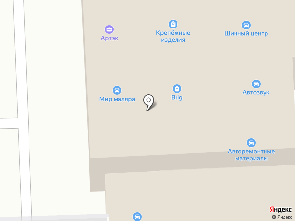 Сеть магазинов автотоваров на карте Новомосковска