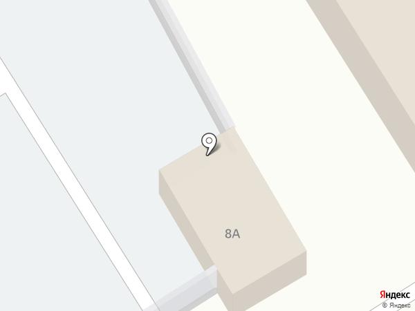 Автостоянка на ул. Космонавтов на карте Новомосковска