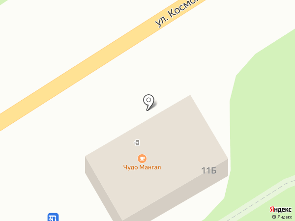 Магазин автотоваров на карте Новомосковска