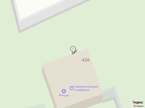Городское Новомосковское кладбище на карте Новомосковска