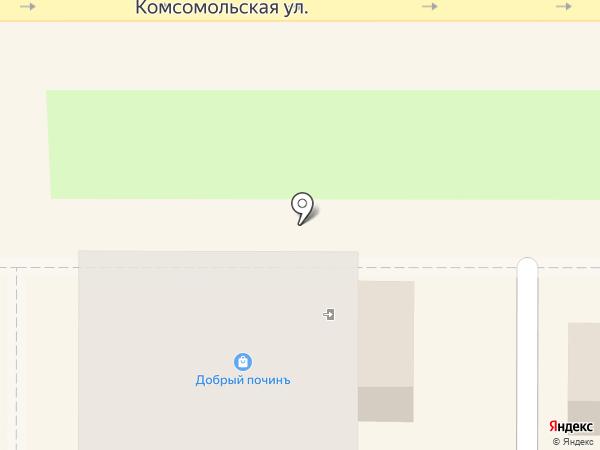 Цветочек на карте Новомосковска