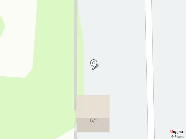 Автостоянка на ул. Молодёжная на карте Новомосковска