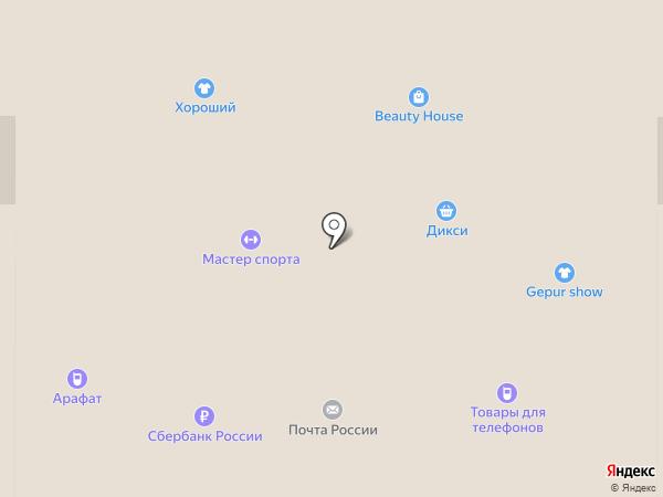 Дикси на карте Новомосковска