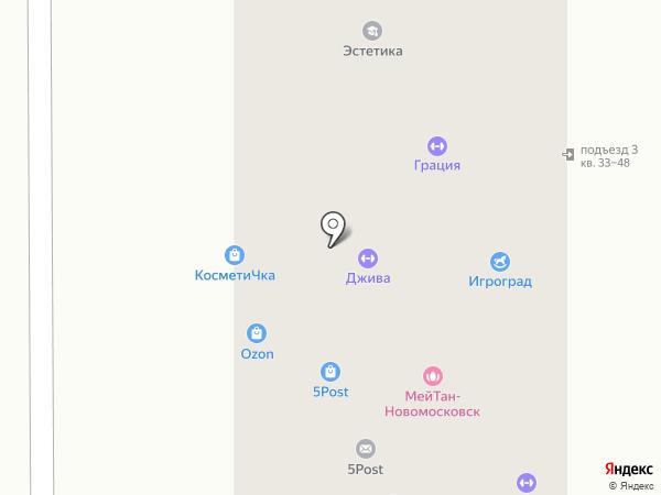 Рекламный мир на карте Новомосковска