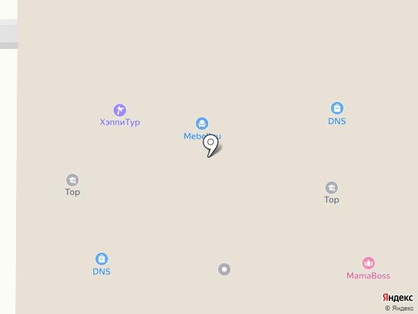 Еврочехол на карте Новомосковска