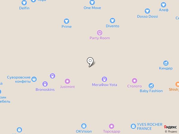 Оквижн на карте Новомосковска