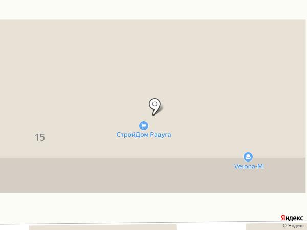 Верона Мебель на карте Новомосковска