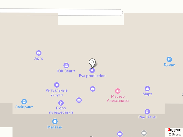 Арго на карте Новомосковска