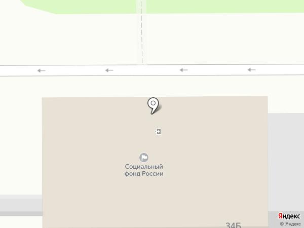 Управление пенсионного фонда РФ в г. Новомосковске на карте Новомосковска