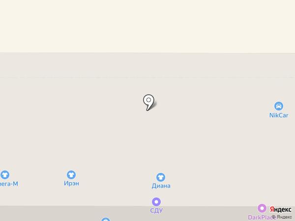 Амелия на карте Новомосковска