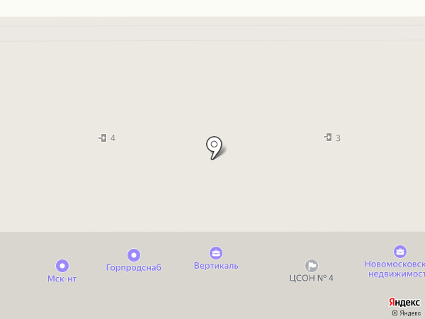 Горпродснаб на карте Новомосковска