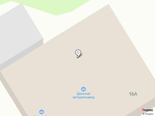Автомойка в Железнодорожном проезде на карте Донского